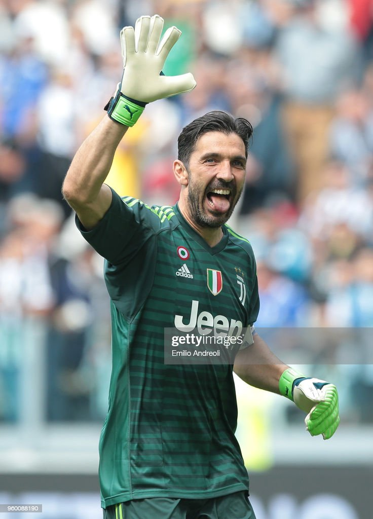 20db9612c06 Gianluigi Buffon of Juventus FC greets the fans in his last match ...