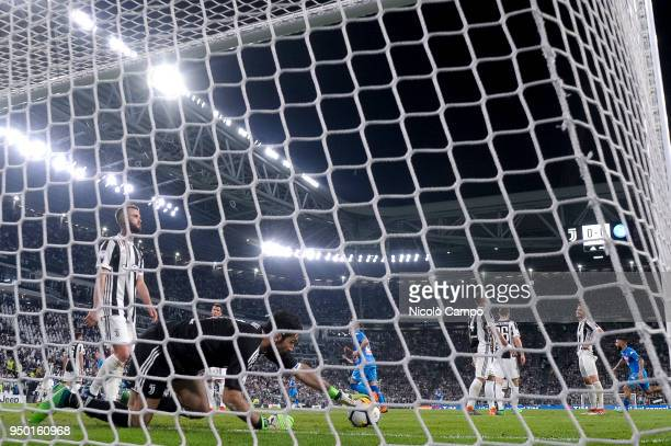 Gianluigi Buffon of Juventus FC is disappointed after a goal of SSC Napoli during the Serie A football match between Juventus FC and SSC Napoli SSC...