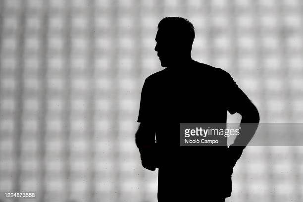 Gianluigi Buffon of Juventus FC is seen during warm up prior to the Serie A football match between Juventus FC and Torino FC. Juventus FC won 4-1...