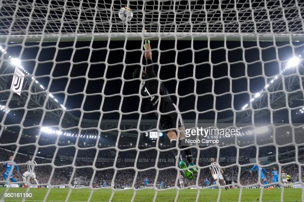 Gianluigi Buffon of Juventus FC makes a save during the Serie A football match between Juventus FC and SSC Napoli SSC Napoli won 10 over Juventus FC