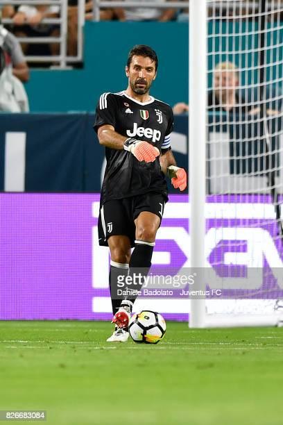 Gianluigi Buffon of Juventus in action during the International Champions Cup 2017 match between Paris Saint Germain and Juventus at Hard Rock...