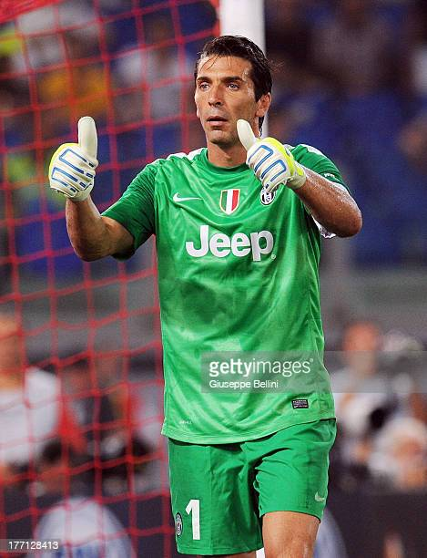 8fd120d6f Gianluigi Buffon of Juventus in action during the TIM Supercup match  between SS Lazio and FC