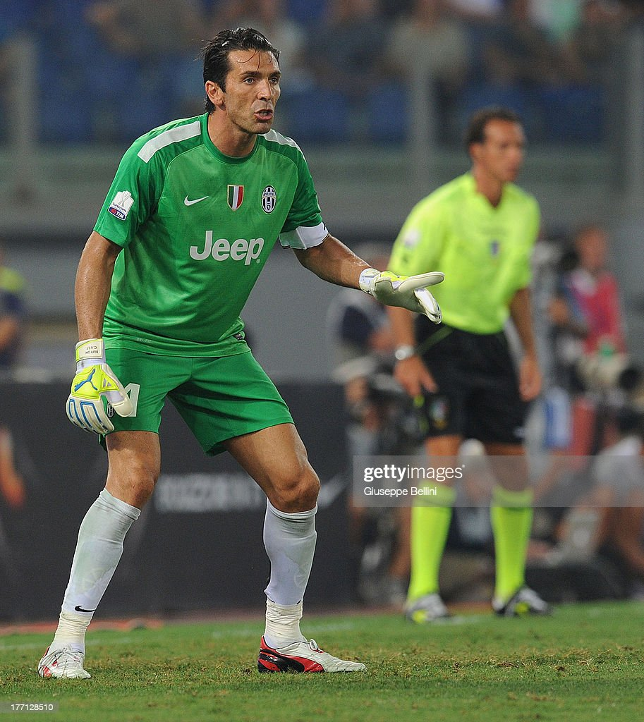 a2e235ffd Gianluigi Buffon of Juventus in action during the TIM Supercup match ...