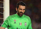 barcelona spain gianluigi buffon juventus seen