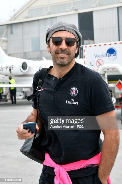 Gianluigi Buffon of Paris Saint-Germain travels to Montpellier for the Ligue 1 match between Paris Saint-Germain and Montpellier HSC on April 30,...