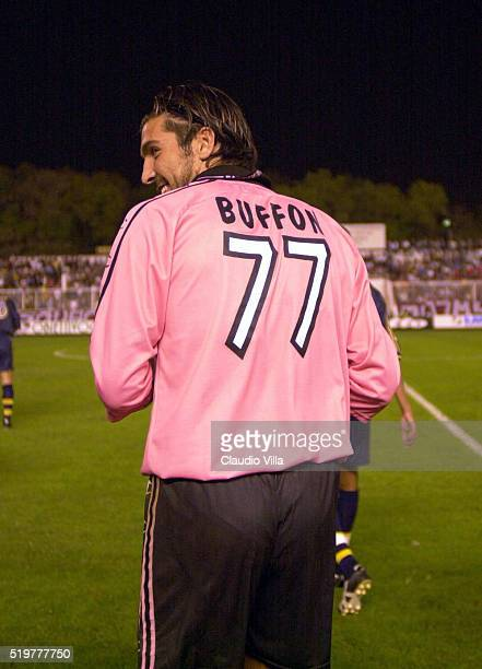 Gianluigi Buffon of Parma during the Uefa Cup match played between Pobeda Prileb and AC Parma at Goce Delcev stadium on September 14 2000 in Prileb...