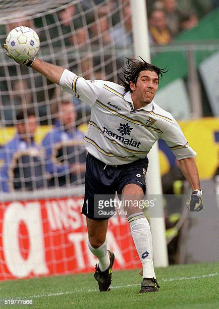 Gianluigi Buffon of Parma in action during Serie A match played between Parma and Fiorentina at Ennio Tardini stadium on October 31 1998 in Parma...