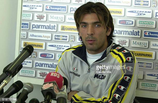 Gianluigi Buffon of Parma speaks at the press at Ennio Tardini stadium on December 01 2000 in Parma Italy