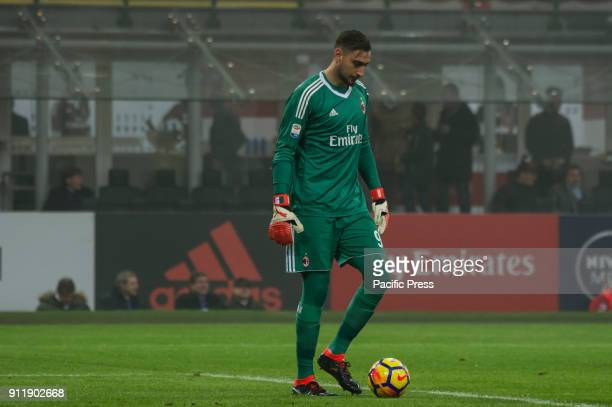 Gianluigi Donnarumma of AC Milan during Serie A football AC Milan versus SS Lazio Ac Milan wins 21