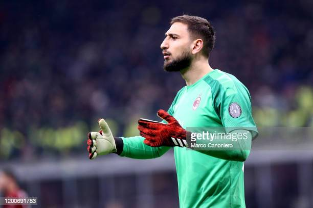 Gianluigi Donnarumma of Ac Milan during the Coppa Italia semifinal first leg match between Ac Milan and Juventus Fc The match end in a tie 11