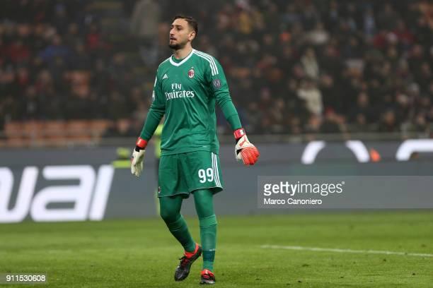 Gianluigi Donnarumma of Ac Milan during the Serie A football match between AC Milan and SS Lazio Ac Milan wins 21 over Ss Lazio