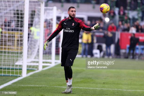 Gianluigi Donnarumma of Ac Milan during the Serie A match between Ac Milan and Udinese Calcio Ac Milan wins 32 over Udinese Calcio