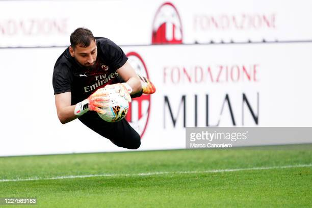 Gianluigi Donnarumma of Ac Milan during the Serie A match between Ac Milan and Parma Calcio Ac Milan wins 31 over Parma Calcio