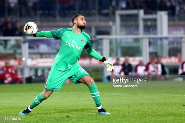 Gianluigi Donnarumma of Ac Milan in action during the Serie A match between Torino Fc and Ac Milan Torino Fc wins 21 over Ac Milan