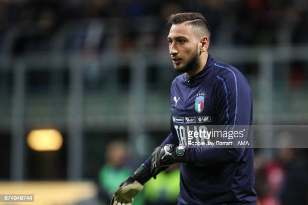 Gianluigi Donnarumma of Italy during the FIFA 2018 World Cup Qualifier PlayOff Second Leg between Italy and Sweden at San Siro Stadium on November 13...