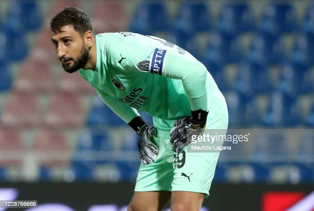 Gianluigi Donnarumma of Milan during the Serie A match between FC Crotone and AC Milan at Stadio Comunale Ezio Scida on September 27 2020 in Crotone...