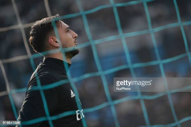Gianluigi Donnarumma of Milan during the Serie A match between SPAL and AC Milan at Paolo Mazza Stadium Ferrara Italy on 10 February 2018