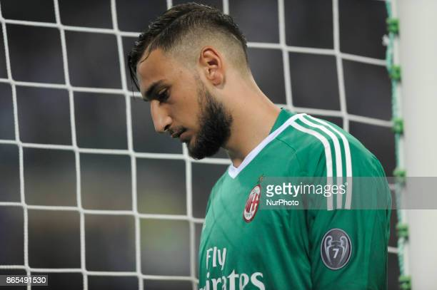 Gianluigi Donnarumma of Milan goalkeeper during the match valid for Italian Football Championships Serie A 20172018 between FC Internazionale and AC...