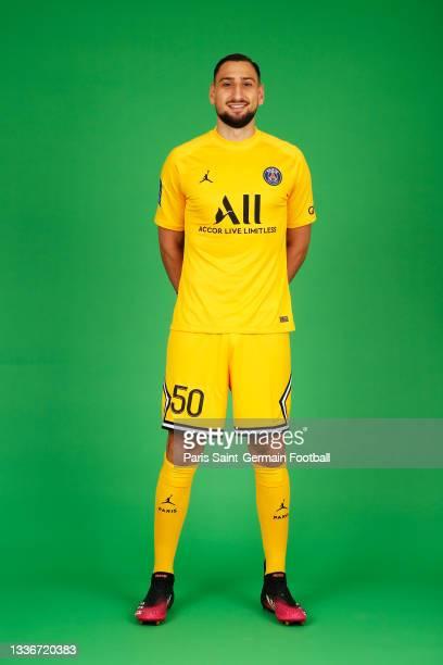 Gianluigi Donnarumma of Paris Saint-Germain poses for a photo on August 11, 2021 in Paris, France.
