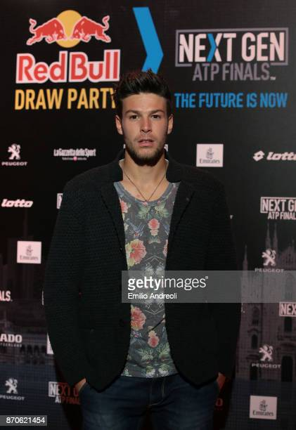 Gianluigi Quinzi of Italy attends the NextGen ATP Finals Launch Party on November 5 2017 in Milan Italy