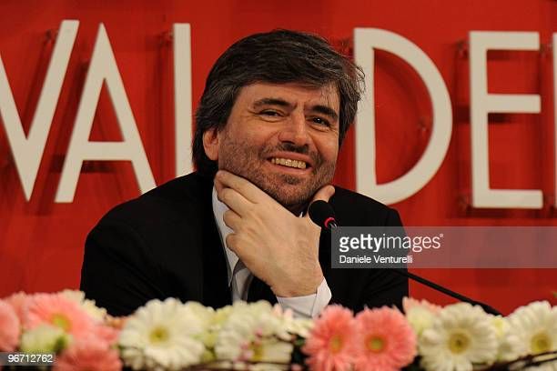 Gianmarco Mazzi attends the 60th San Remo Song Festival 2010 press conference on February 15 2010 in San Remo Italy