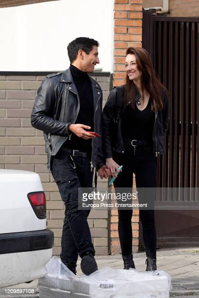 Gianmarco Onestini and Adara Molinero are seen on February 17 2020 in Madrid Spain