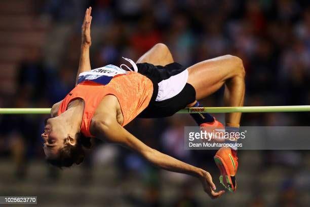 Gianmarco Tamberi of Italy competes in the Men's High Jump during the IAAF Diamond League AG Memorial Van Damme at King Baudouin Stadium on August 31...