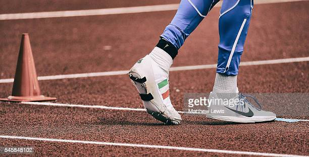 Gianmarco Tamberi of Italy prepares for a jump in the Mens High Jump Final during day five of the 23rd European Athletics Championships at Olympic...