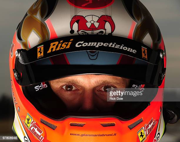 Gianmaria Bruni driver of the Risi Competizione Ferrari 430 GT is shown during testing for the ALMS 12 Hours of Sebring at Sebring International...