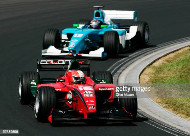 Gianmaria Bruni of Italy and Coloni Motorsport in the GP2 race held during the Hungarian F1 Grand Prix at the Hungaroring on July 30 2005 in Budapest...