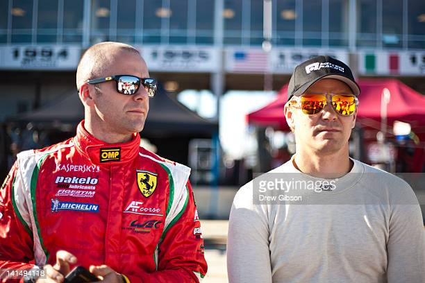 Gianmaria Bruni of Italy and Toni Vilander of Finland drivers of the AF Corse Ferrari F458 Italia during the 2012 World Endurance Championship 12...