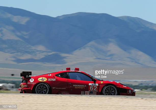 Gianmaria Bruni of Italy captures the GT class pole position driving the Risi Competizione Ferrari 430 GT during qualifying for the American Le Mans...