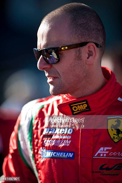 Gianmaria Bruni of Italy driver of the AF Corse Ferrari F458 Italia driven during the 2012 World Endurance Championship 12 Hours Of Sebring at...