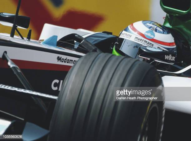 Gianmaria Bruni of Italy drives the Minardi Cosworth Minardi PS04B Cosworth V10 during practice for the Formula One Monaco Grand Prix on 20 May 2004...