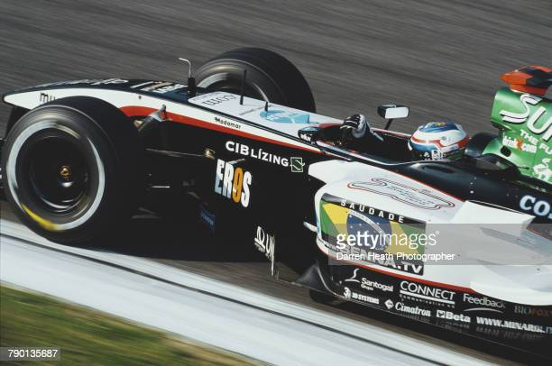 Gianmaria Bruni of Italy drives the Minardi CosworthMinardi PS04B Cosworth V10 during the Formula One San Marino Grand Prix on 25 April 2004 at the...