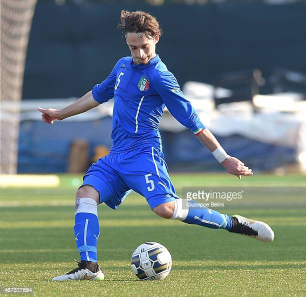 Gianmaria Zanandrea of Italy in action during the international friendly match between U16 Italy and U16 Germany on March 18 2015 in Recanati Italy