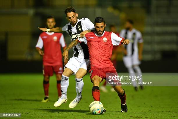 Gianmaria Zanandrea of Juventus U23 competes during the Coppa Italia Serie C match between Juventus U23 and Cuneo at Moccagatta Stadium on August 21...