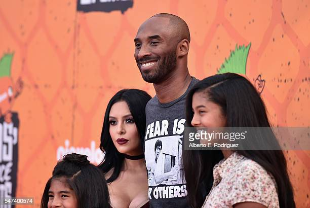 Gianna Bryant Vanessa Bryant former NBA player Kobe Bryant and Natalia Bryant attend the Nickelodeon Kids' Choice Sports Awards 2016 at UCLA's Pauley...