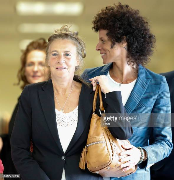 Gianna Constand and her daughter Bill Cosby accuser Andrea Constand walk to court for Cosby's trial on sexual assault charges at the Montgomery...