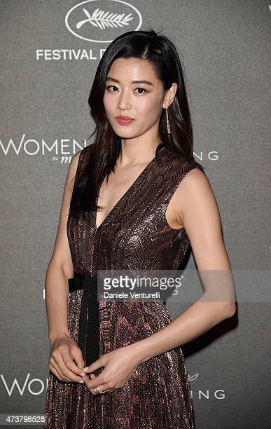 Gianna Jun attends the Kering Official Cannes Dinner at Place de la Castre on May 17, 2015 in Cannes, France.