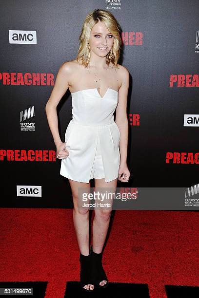 Gianna LePera attends the premiere of AMC's 'Preacher' at Regal LA Live Stadium 14 on May 14 2016 in Los Angeles California