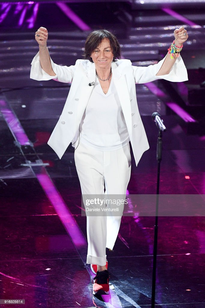 Gianna Nannini attends the fourth night of the 68. Sanremo Music Festival on February 9, 2018 in Sanremo, Italy.