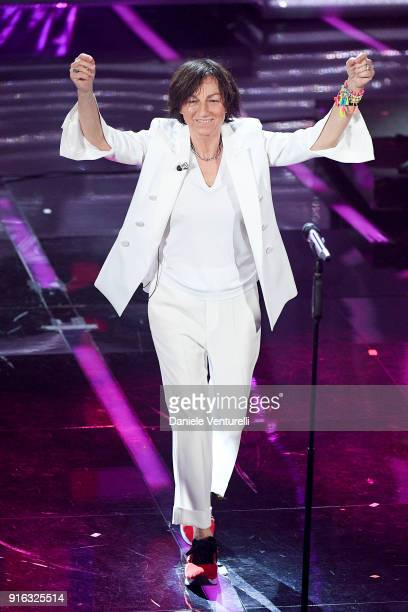 Gianna Nannini attends the fourth night of the 68 Sanremo Music Festival on February 9 2018 in Sanremo Italy