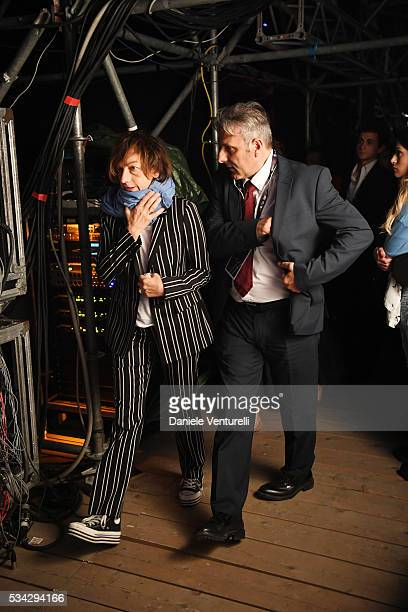 Gianna Nannini is seen backstage ahead of Bocelli and Zanetti Night on May 25 2016 in Rho Italy