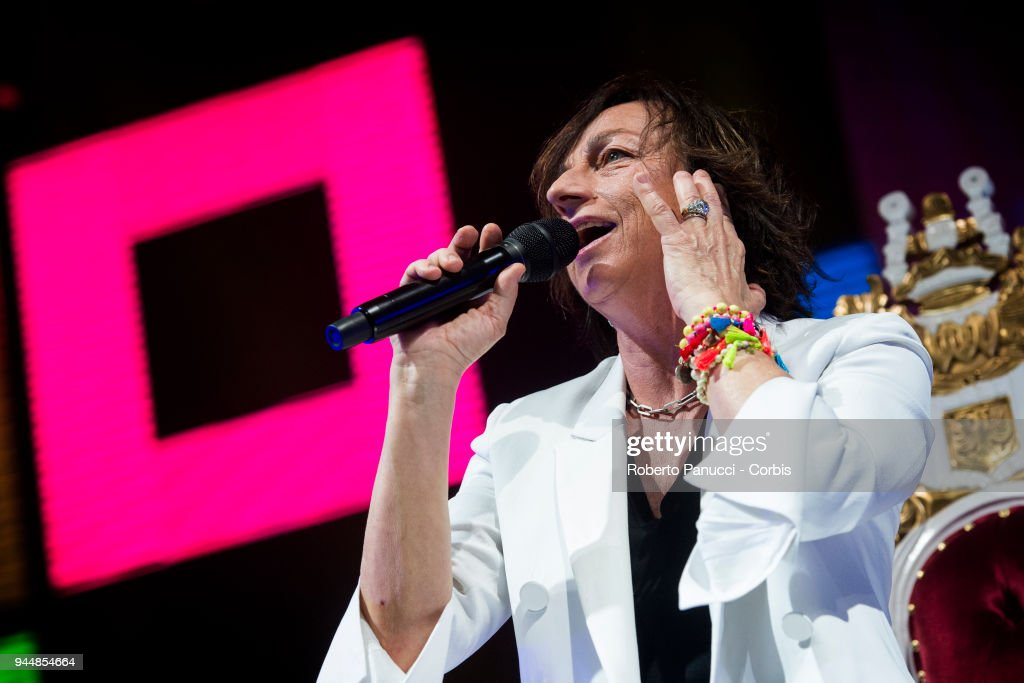 Gianna Nannini perform on stage on April 10, 2018 in Rome, Italy.