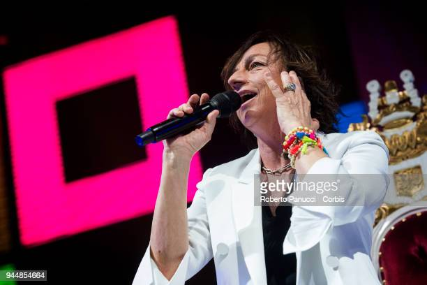 Gianna Nannini perform on stage on April 10 2018 in Rome Italy