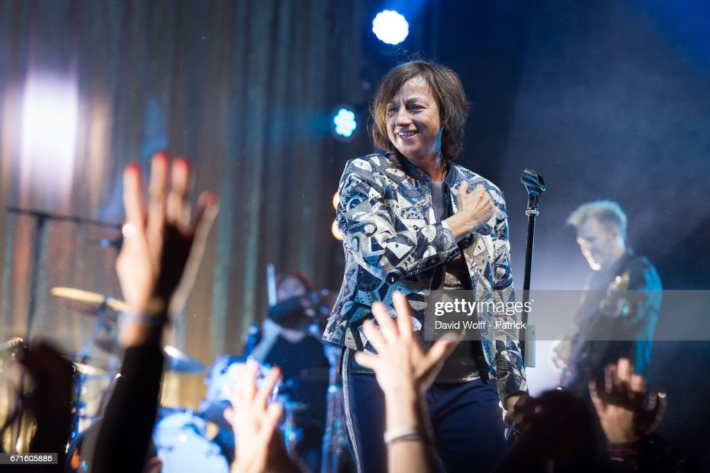 Gianna Nannini performs at L'Olympia on April 22, 2017 in Paris, France.