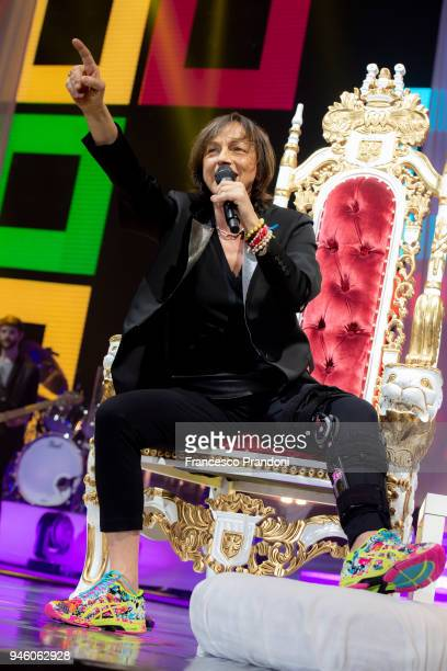 Gianna Nannini performs on stage at Mediolanum Forum on April 13 2018 in Milan Italy