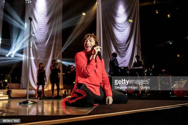 Gianna Nannini performs on stage Mediolanum Forum of Assagoon December 4 2017 in Milan Italy