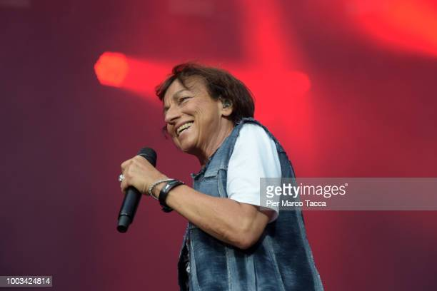 Gianna Nannini performs on the stage at the Moon and Stars Festival on July 21 2018 in Locarno Switzerland